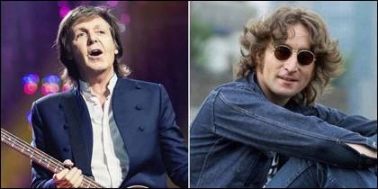 Beatles: Paul McCartney y John Lennon.