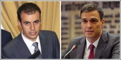 Carlos Ocaña y Pedro Sánchez.