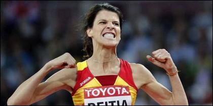 La saltadora Ruth Beitia.