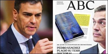 Pedro Sánchez y la portada de ABC.