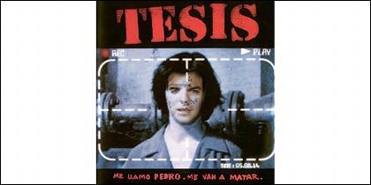 Pedro Sánchez en el cartel de la película Tesis.