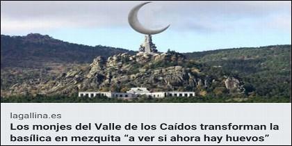 Uno d elos meems sobre el Valle de los Caídos y la sintenciones del socialista Sánchez, que corren por Internet.