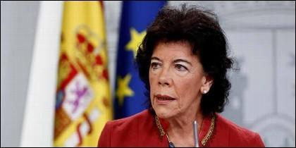 La portavoz del Gobierno y ministra de Educación, Isabel Celaá.