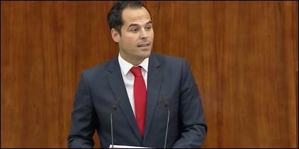 Ignacio Aguado en su discurso en la Asamblea.
