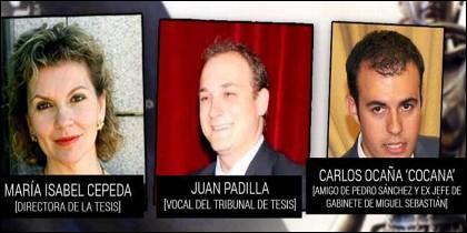 Los tres 'negros' que eran juez y parte en la tesis doctoral de Sánchez.