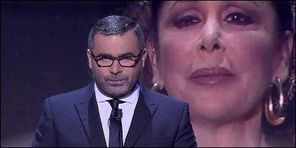 Jorge Javier Vázquez e Isabel Pantoja en 'Sálvame' de TELECINCO.