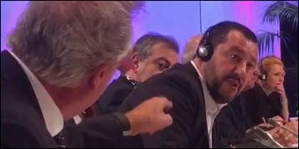 La bronca de Jean Asselborn con Matteo Salvini.