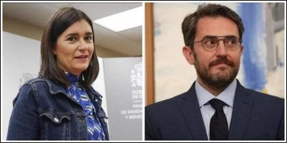 Carmen Montón y Maxim Huerta.