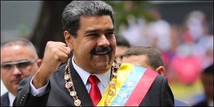 El tirano chavista Nicolás Maduro (VENEZUELA).