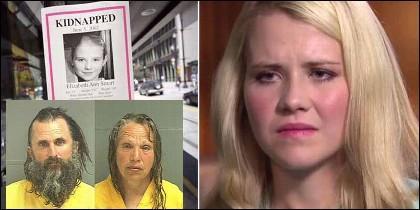 Elizabeth Smart ahora, con 30 años, a los 14 cuando fue secuestrada por Brian David Mitchell y su mujer Wanda Barzee.