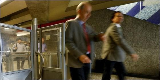Caida en el metro