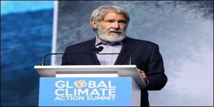 Harrison Ford durante una cumbre sobre el clima