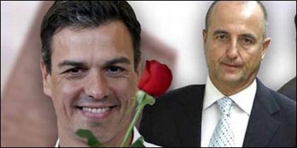 Pedro Sánchez con Miguel Sebastián (PSOE).