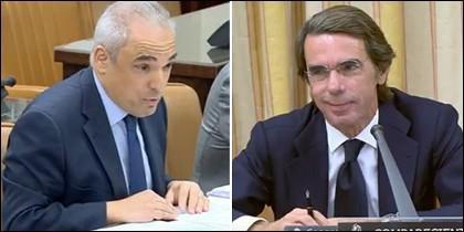 Rafael Simancas y José María Aznar, a cara de perro.