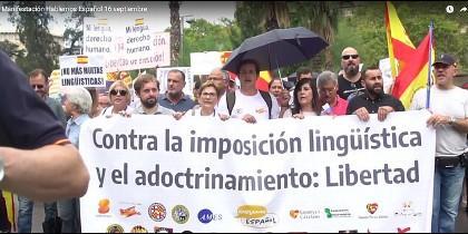 La manifestación 'Hablemos español' en Barcelona
