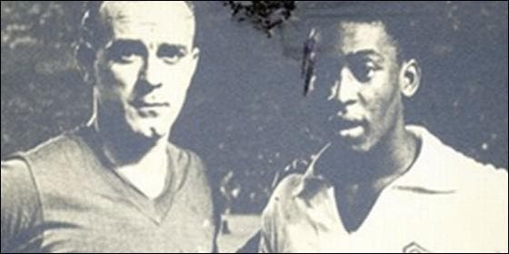 Pelé y Di Stéfano
