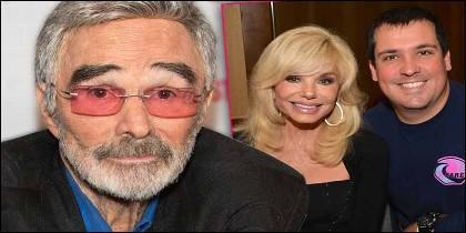 Burt Reynolds, su segunda mujer Loni Anderson y su hijo Quinton.