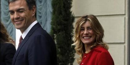 Pedro Sánchez y su esposa Begoña Gómez.