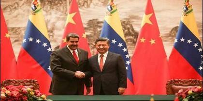 Presidentes de China y Venezuela: Nicolás Maduro y Xi Jinping