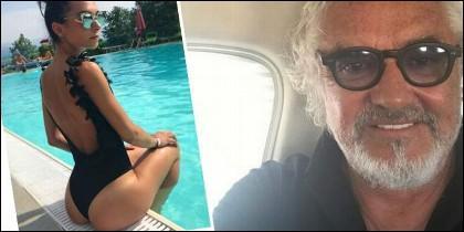 Flavio Briatore y su novia