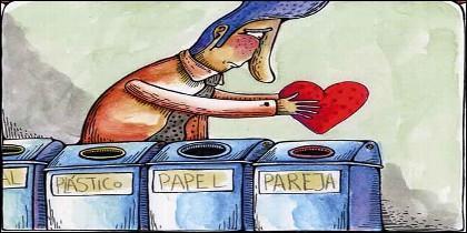 Economía circular, medio ambiente, pareja y el arte de reciclar.