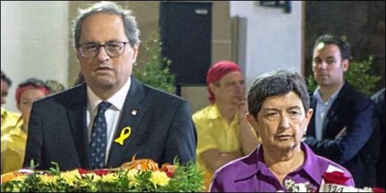 El xenófobo Torra y la socialista Cunillera.