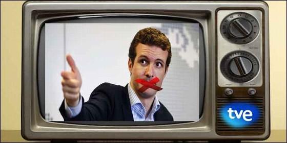 Pablo Casado (PP) censurado en TVE.