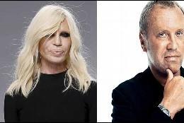 Donatella Versace y Michael Kors