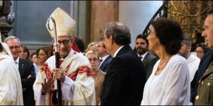 """El cardenal de Barcelona habla de """"tiempo de incertidumbre"""" durante la misa de La Mercè"""