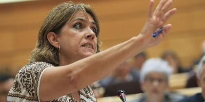 Dolores Delgado en el Senado durante su reprobación