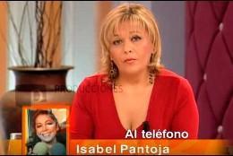 Pepa Jiménez en Canal Sur escuchando a la Pantoja