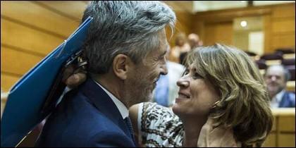 Fernando Grande-Marlaska y Dolores Delgado.