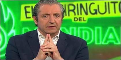 Josep Pedrerol en El Chiringuito.