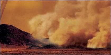 Tormentas de polvo en Titán