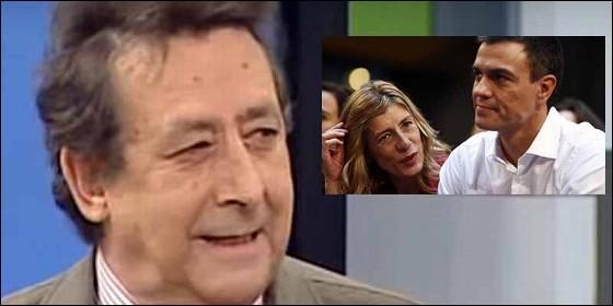 Alfonso Ussía, Begoña Gómez y Pedro Sánchez.