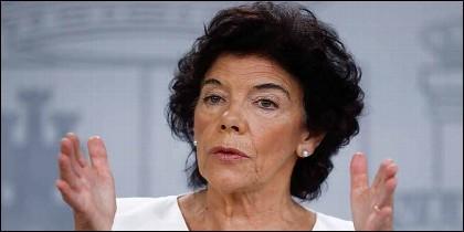 La portavoz del Gobierno Sánchez y ministra de Educación, Isabel Celaá.