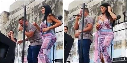 Liliana del Carmen Campos Puello, alias 'La madame', baila en el penal de San Diego, en Cartagena