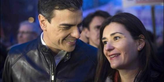 Pedro Sánchez y Carmen Montón, en una imagen reciente.
