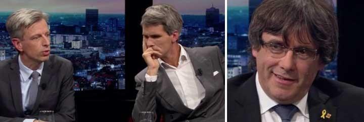 Bart Schols, periodista belga; y Carles Puigdemont.