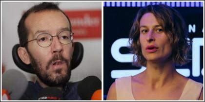 Pablo Echenique y la periodista de la SER Mariela Rubio.