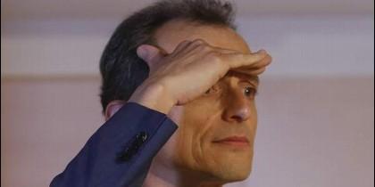 El ministro de Ciencia, Pedro Duque, durante su comparecencia