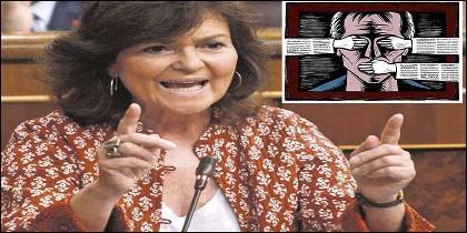 Carman Calvo, presna, periodismo y censura.
