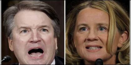 Brett Kavanaugh y la presunta víctima de agresión sexual Christine Blasey Ford.