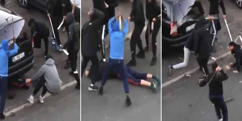 Pandilla golpea con palos a un adolescente en París