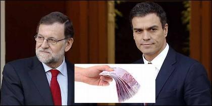 Los patrimonios de Mariano Rajoy (PP) y Pedro Sánchez (PSOE).
