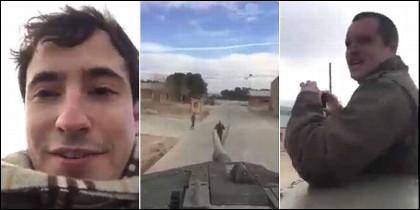 Los cachondos del tanque 'amenazan' a Iglesias y Puigdemont.