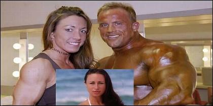 Melissa James, la víctima, en el recuadro y arriba Craig Titus y Kelly Ryan.