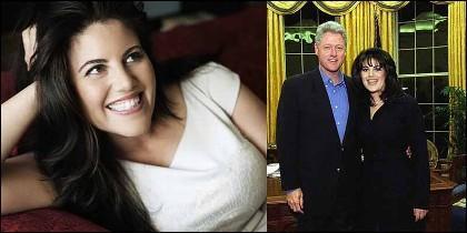 Monica Lewinsky y cuando intimba con el presidente Clinton en el Despacho Oval de la Casa Blanca.