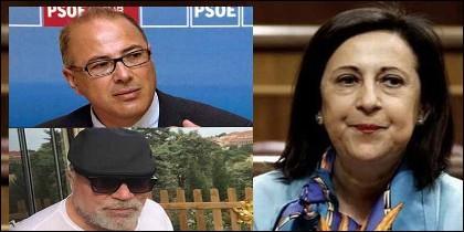 Ángel Olivares, Pepe Villarejo y la ministra de Defensa Margarita Robles.