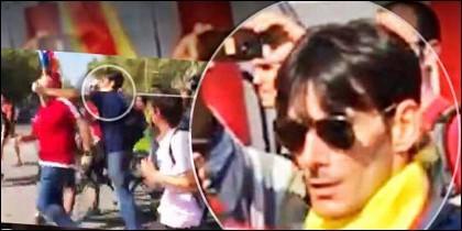 Este es el matón independentista que encabezó la agresión al guardia civil en Barcelona.